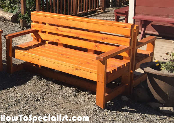 diy outdoor bench howtospecialist how to build step by step diy