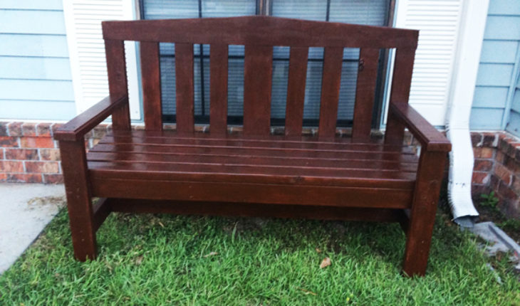 Diy 2x4 Bench For Garden Howtospecialist How To Build