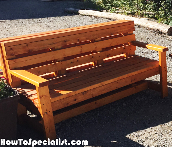 Diy Outdoor Bench Howtospecialist How To Build Step