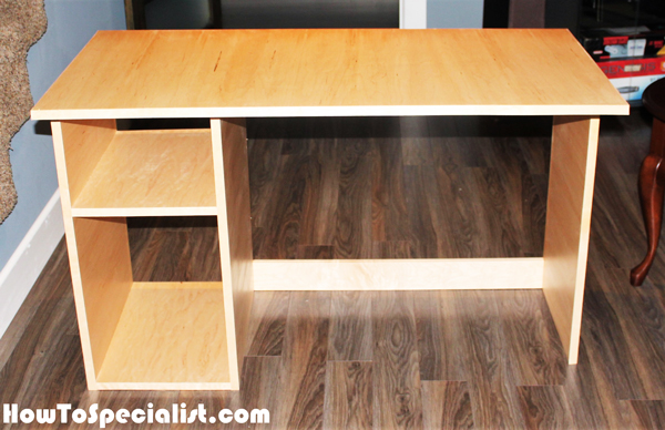 Diy Simple Computer Desk Howtospecialist How To Build Step By Step Diy Plans