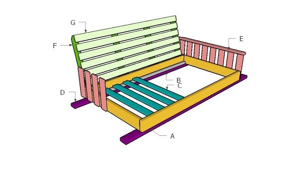 Swing Bed Plans - Free DIY Plans | HowToSpecialist - How ...