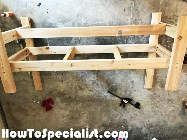 Assembling-the-bench-frame