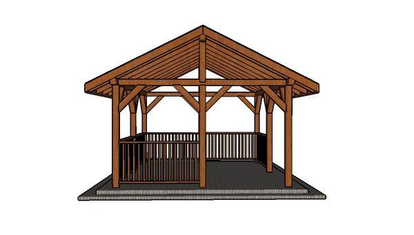 14x16 Pavilion Plans - Front view