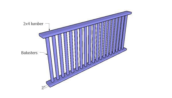 Assembling the railings