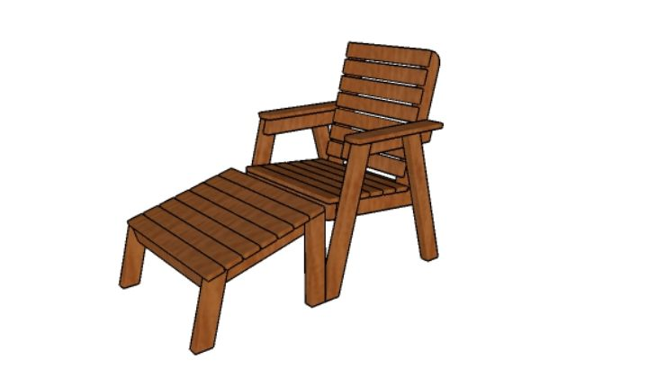 DIY garden chair plan