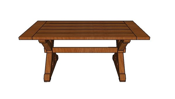 6ft Farmhouse Table Plans Free