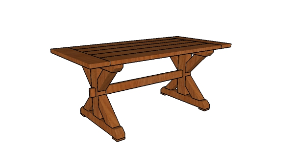 6ft Farmhouse Table Free Diy Plans Howtospecialist How To Build Step By Step Diy Plans