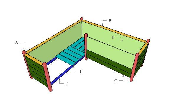 Building a corner planter