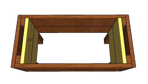 Fitting the interior slats