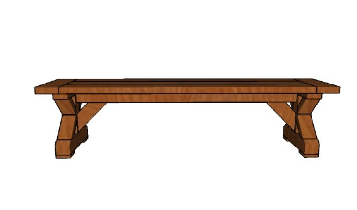 Free Farmhouse Bench Plans