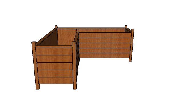 Modern Corner Planter Box