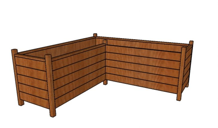 Modern Corner Planter Box Plans