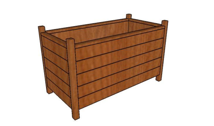 modern rectangular planter box free diy plans
