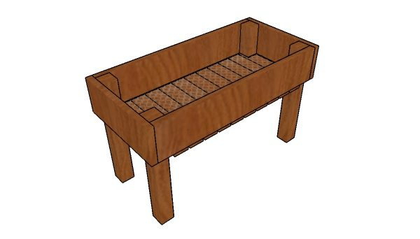 Simple elevated planter box plans