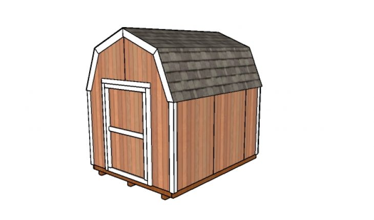 8x10 Gambrel Shed Plans