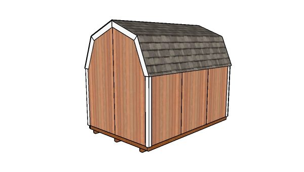 8x12 Gambrel Shed Free Diy Plans Howtospecialist How