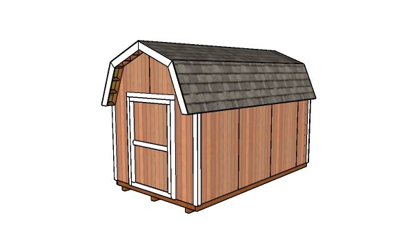 8x14 Gambrel Shed Plans