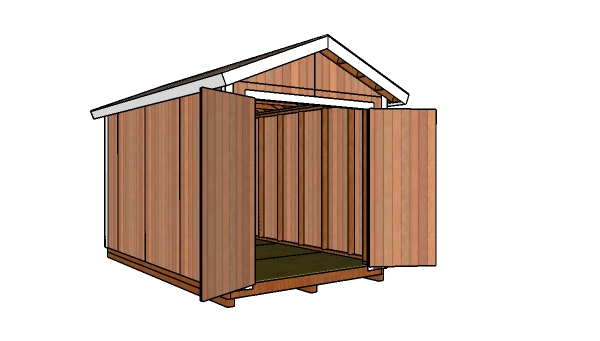 8x14 Gable Shed Free Diy Plans Howtospecialist How To Build