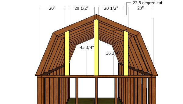Back wall gambrel supports