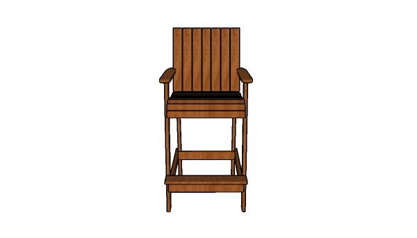 Bar height adirondack chair - Free Plans