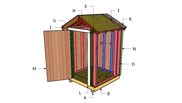 5x5 Gable Shed Free Diy Plans Howtospecialist How To Build