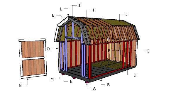 8x16 Gambrel Shed Roof Free Diy Plans Howtospecialist