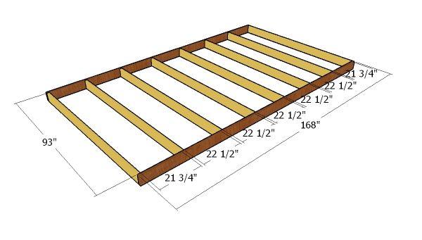 Building the floor frame
