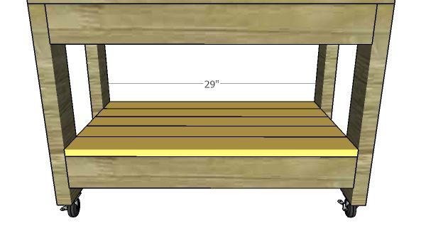 Fitting the lower shelf slats
