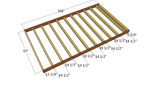 8x14 Gambrel Shed - Free DIY Plans | HowToSpecialist - How to Build ...