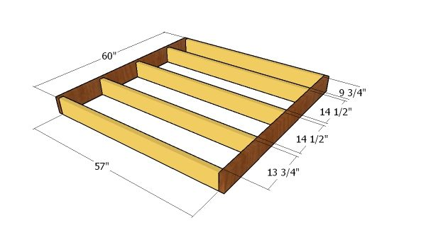 5x5 Gable Shed - Free DIY Plans | HowToSpecialist - How to Build ...