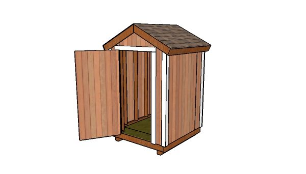 How to build a 5x5 shed with a gable roof