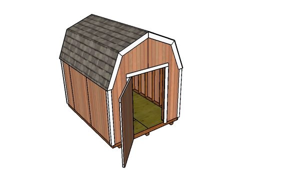 How to build a 8x10 gambrel shed
