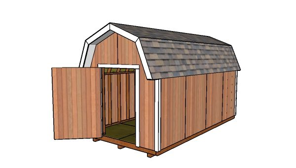 How to build a 8x16 gambrel shed