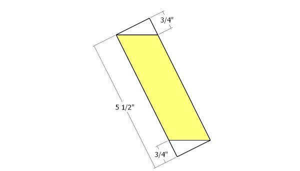 Top diagonal slats