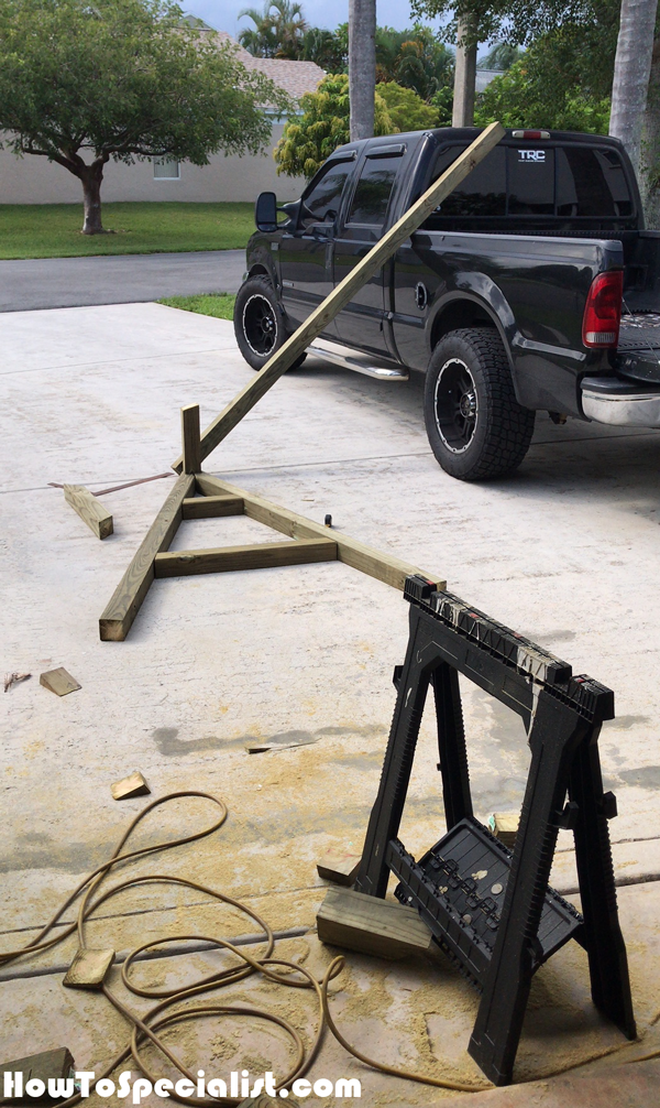 Assembling-the-A-frame-swing-stand
