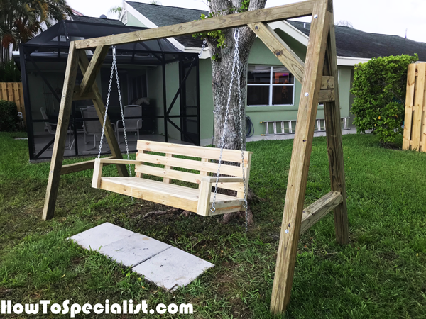Diy 6 Ft Porch Swing Howtospecialist How To Build