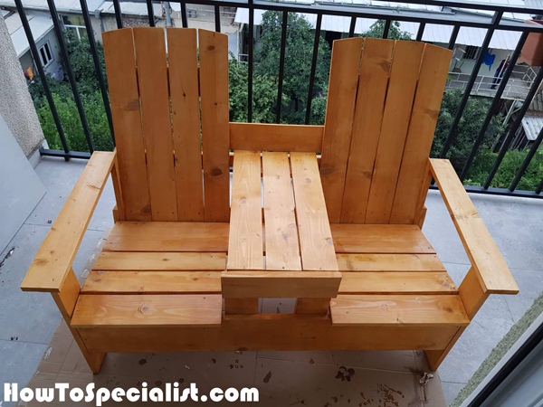 Diy Double Adirondack Chair With Table Howtospecialist