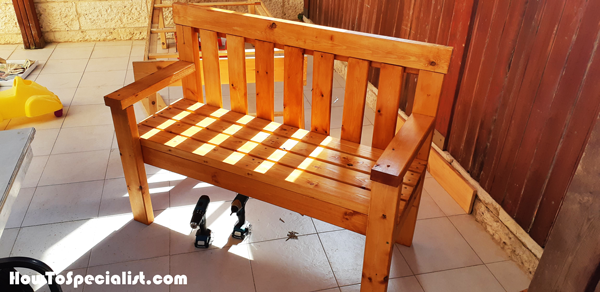 Diy 2x4 Wooden Outdoor Bench Howtospecialist How To Build Step By Step Diy Plans