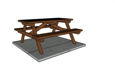 5 foot Picnic Table made from 2x4s Plans