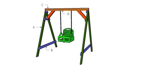 Building a 2x4 swing set