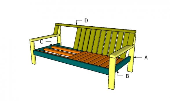 Building an outdoor sofa from 2x4s