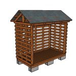 Firewood Shed made from 2x4s Plans