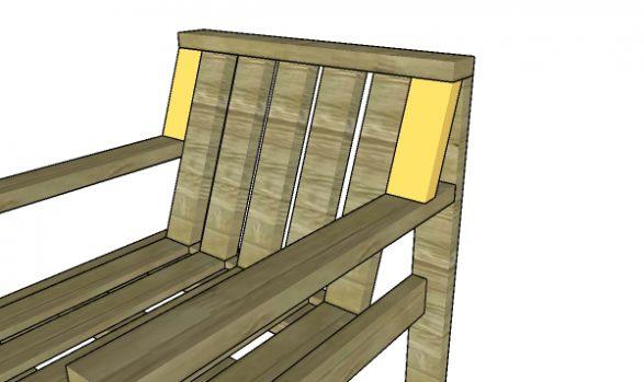 Fitting the end backrest slats