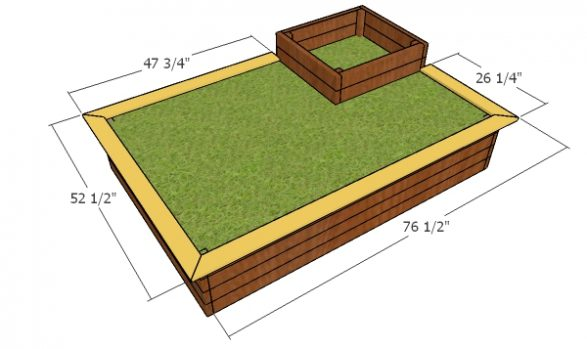 Fitting the flower bed trims