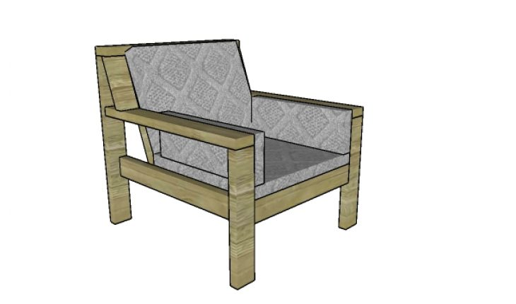 Outdoor Chair made from 2x4s Plans