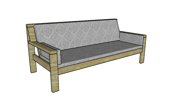 Outdoor Sofa Made From 2x4s Plans