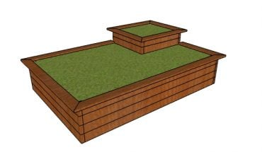 Raised Flower Bed made from 2x4s Plans
