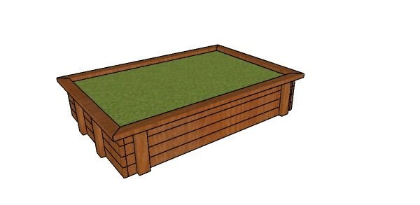 Raised Garden Bed made from 2x4s Plans HTS