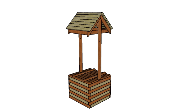 Wishing well made from 2x4s