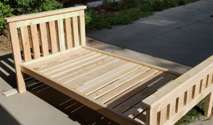 Diy 2x4 Bed Frame Howtospecialist How To Build Step